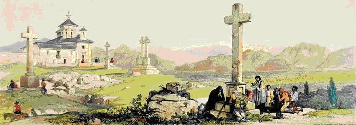 Ermita de Gabia Grande y la vega George Vivian. 1830