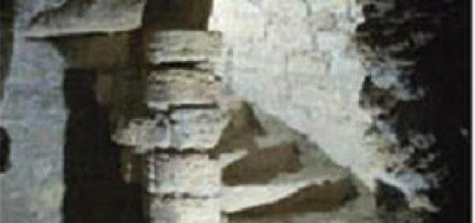 Escalera de caracol, piedra de arenisca, (siglo III-IV) en la Mina Toleo, Gabia Grande