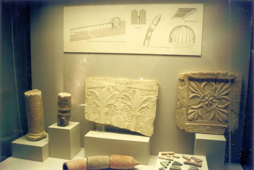 Fragmentos del baptisterio romano en el museo arqueologico