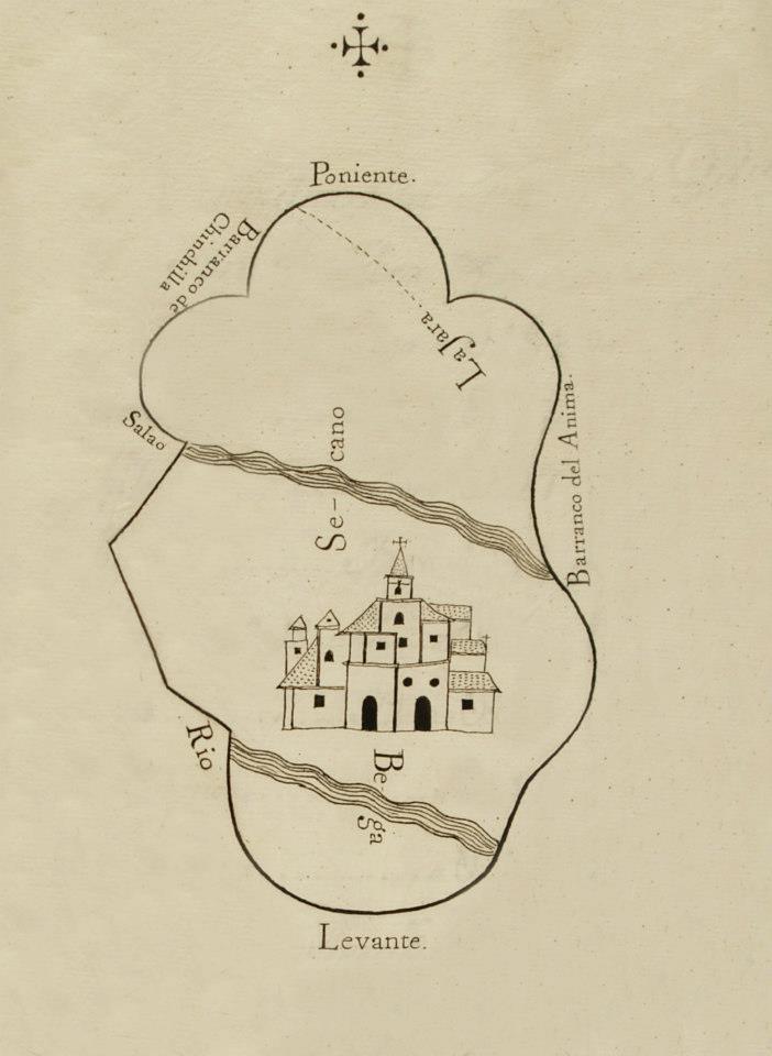 Mapa de Gabia Grande para el Catastro de la Ensenada