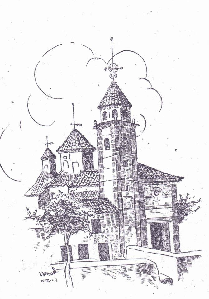 Ilustración de Ismael Caro en el, programa de fiestas del 1942