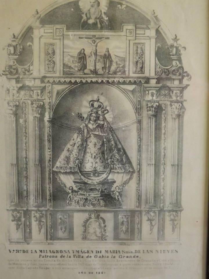 Imagen de la Virgen de 1861