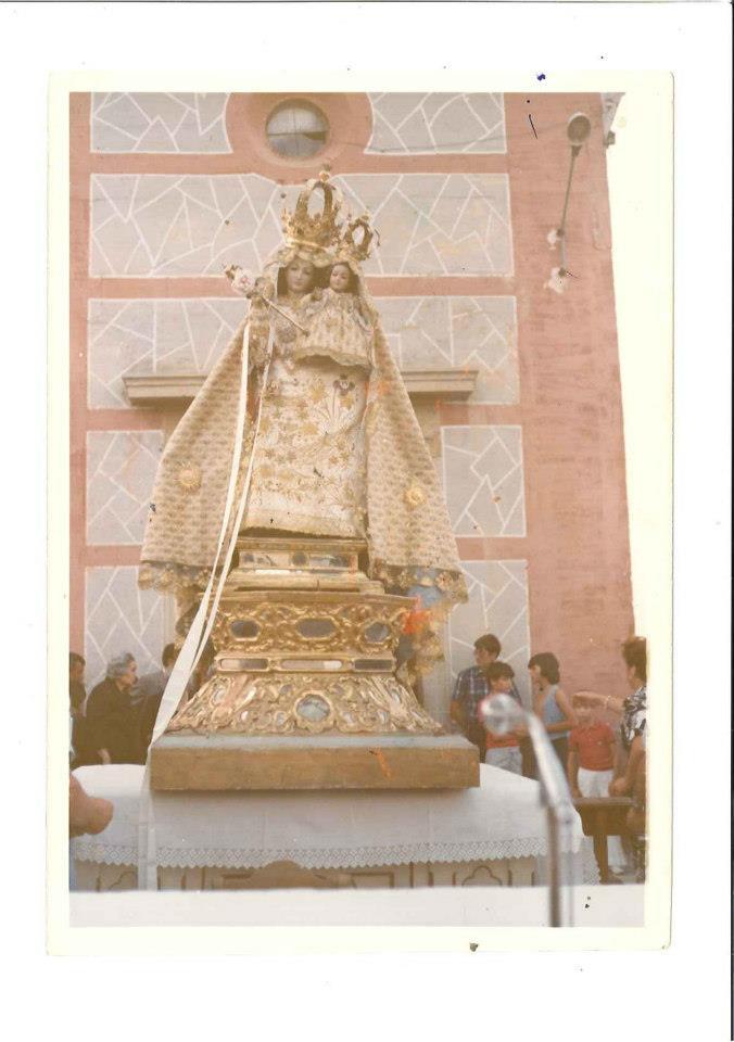 La Virgen de las Nieves, trono antiguo
