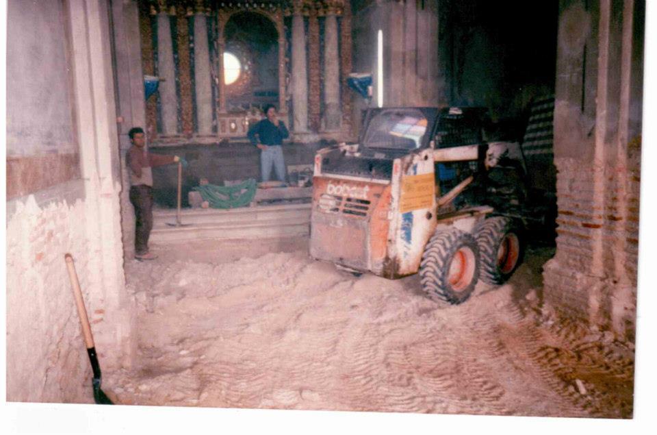 La ermita en obras