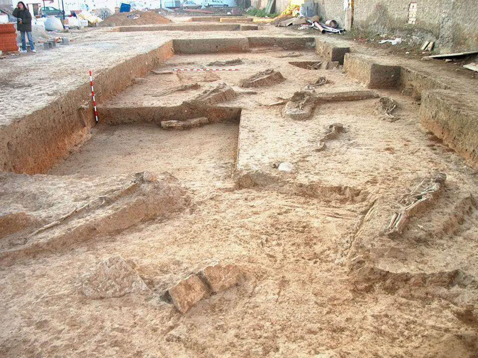 Enterramientos villa romana de Hijar